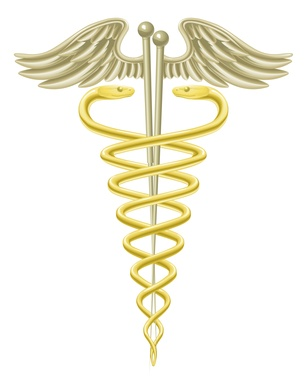 Acupuncture needles caduceus